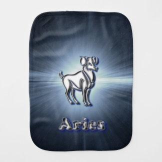 Chrome Aries Burp Cloth