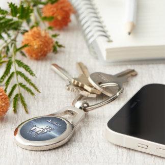 Chrome Aries Keychain