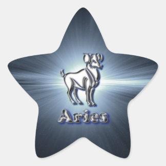 Chrome Aries Star Sticker