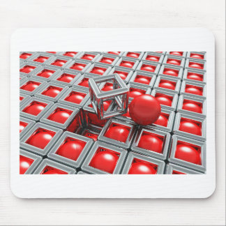 chrome balls mouse pad