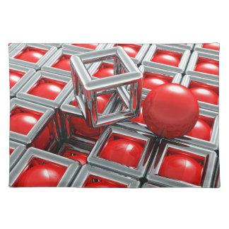 chrome balls placemat