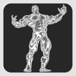 Chrome Bodybuilder Sticker