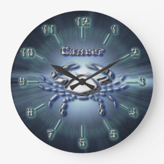 Chrome Cancer Large Clock