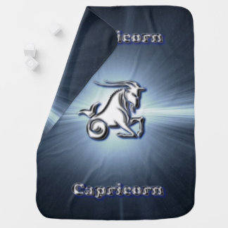 Chrome Capricorn Baby Blanket