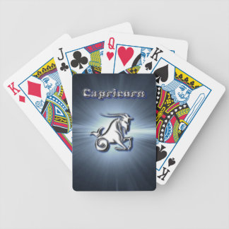 Chrome Capricorn Bicycle Playing Cards