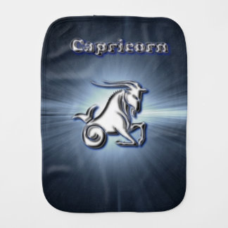 Chrome Capricorn Burp Cloth