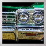 chrome classique d'impala avec la peinture verte affiche