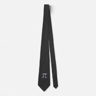 Chrome comme le symbole de pi sur la copie de cravate