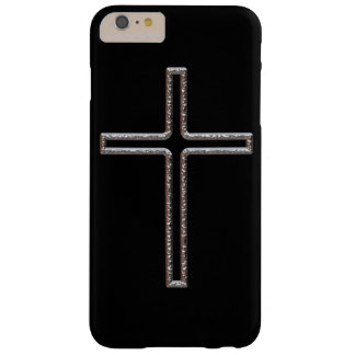 Chrome Crucifix Hollow Barely There iPhone 6 Plus Case