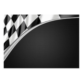 Chrome Curve Flag Large Business Cards (Pack Of 100)