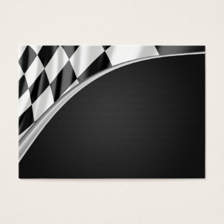 Chrome Curve Flag Business Card