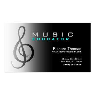 Chrome de carte de visite d éducateur de musique