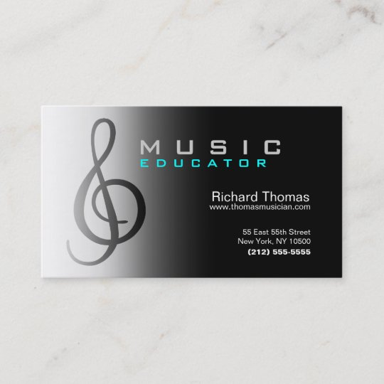 Chrome De Carte Visite Dducateur Musique