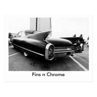Chrome des ailerons n carte postale