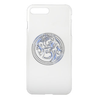 Chrome Dragon Crest on Clear iPhone 8 Plus/7 Plus Case