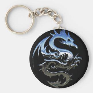 Chrome Dragon Keychain