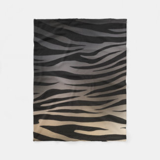 Chrome Effect Zebra Print Fleece Blanket