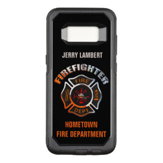 Chrome Firefighter Name Template OtterBox Commuter Samsung Galaxy S8 Case