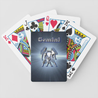 Chrome Gemini Bicycle Playing Cards