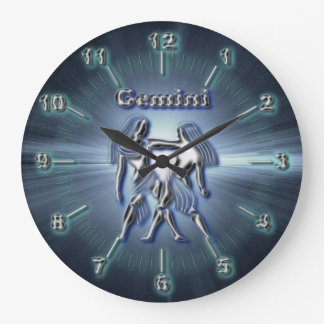 Chrome Gemini Large Clock