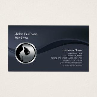 Chrome Hair Style Icon Hair Stylist Business Card