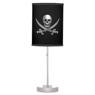 Chrome Jolly Roger Table Lamp