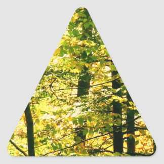 Chrome Leaves Triangle Sticker