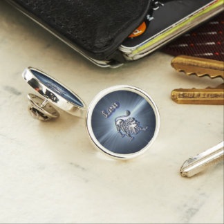 Chrome Leo Lapel Pin