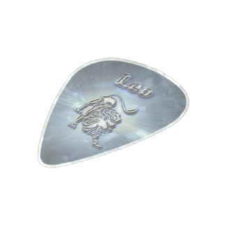 Chrome Leo Pearl Celluloid Guitar Pick