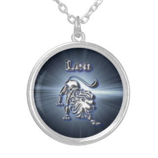 Chrome Leo Silver Plated Necklace