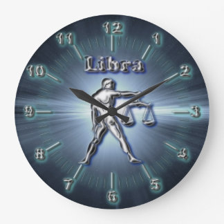 Chrome Libra Large Clock