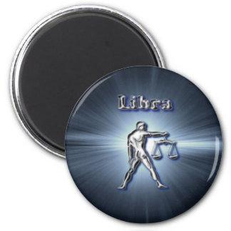 Chrome Libra Magnet