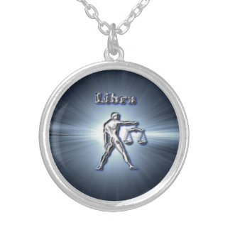 Chrome Libra Silver Plated Necklace