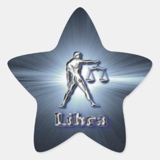 Chrome Libra Star Sticker