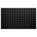 Chrome Like Caduceus Medical Symbol Black Decor Fabric