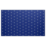 Chrome Like Caduceus Medical Symbol on Navy Blue Fabric