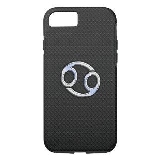 Chrome Like Cancer Zodiac Sign on Black iPhone 7 Case