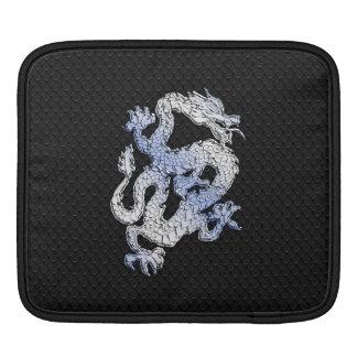 Chrome like Dragon on Black Snake Skin Print Sleeve For iPads