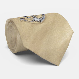 Chrome like Rope Anchor in the Sand Tie