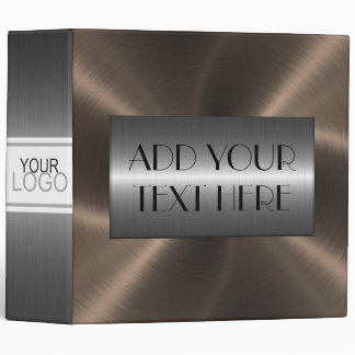 Chrome Luxury Stainless Metallic Metal Look #10 Binders