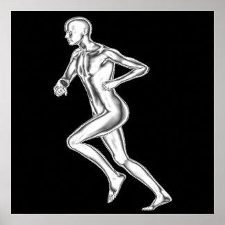 Chrome Man Runner Poster