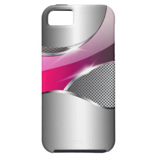 Chrome Mesh Metallic Swoop fuschia Case For The iPhone 5