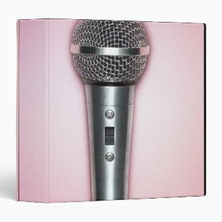 Chrome Microphone 3 Ring Binders