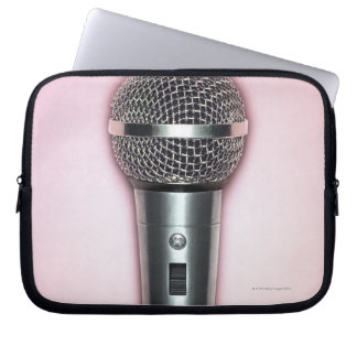 Chrome Microphone Laptop Sleeve