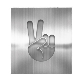 Chrome Peace Hand Notepad