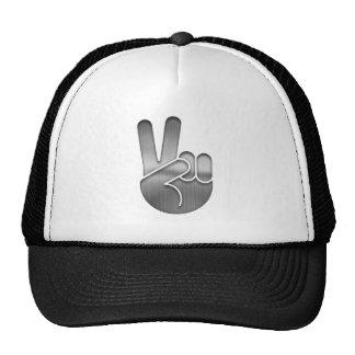 Chrome Peace Hand Trucker Hat