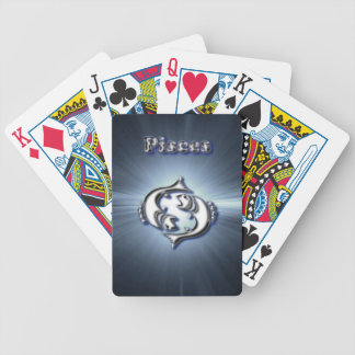 Chrome Pisces Bicycle Playing Cards
