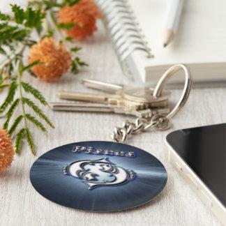 Chrome Pisces Keychain