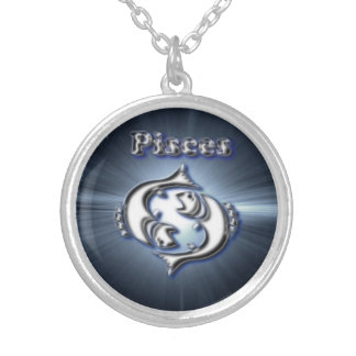 Chrome Pisces Silver Plated Necklace