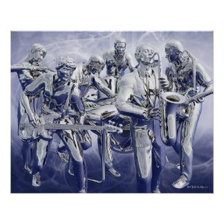 Chrome Plated Music Poster